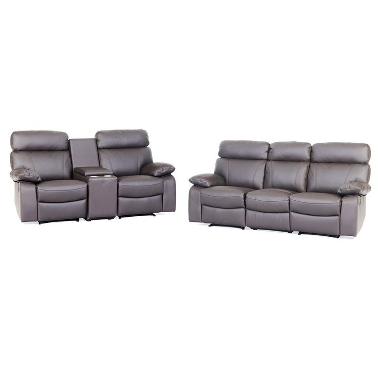 Drifter 3 Seater Twin Recliner & 2 Seater Home Theatre - Discount Lounge Centre