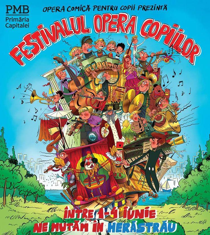 Fotografia postată de Opera Comica pentru Copii.