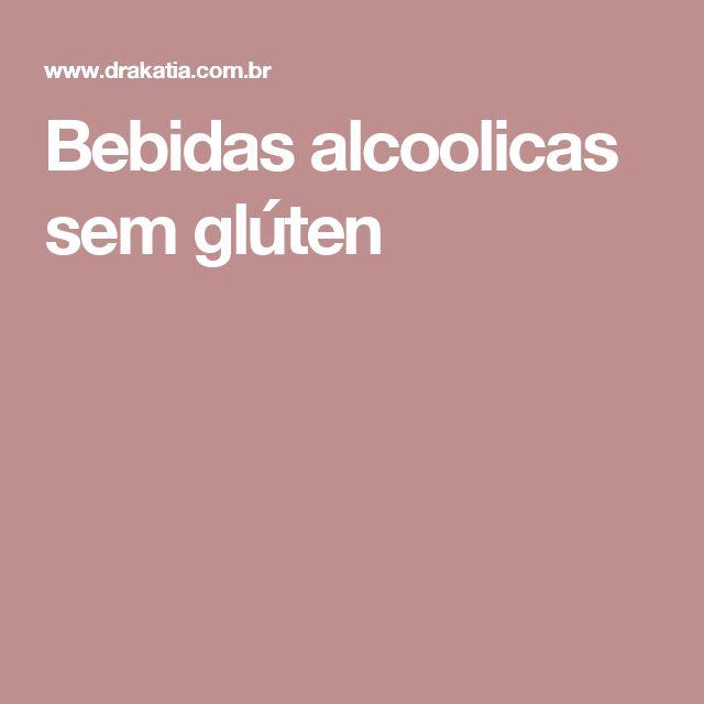 Bebidas alcoolicas sem glúten
