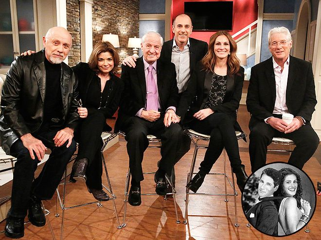 THE PRETTY WOMAN CAST Twenty-five years after Julia Roberts was transformed from lady of the night to real lady by Richard Gere in Pretty Woman, the cast – including Hector Elizondo, Laura San Giacomo and director Garry Marshall – is getting back together for a Today show sit-down on March 24, 2015. On the docket? Hopefully a look back at the best-ever bathtub scene, the escargot's slippery getaway and everyone's favorite makeover montage.