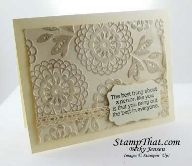 Stampin' Up! Lovely Lace embossing folder
