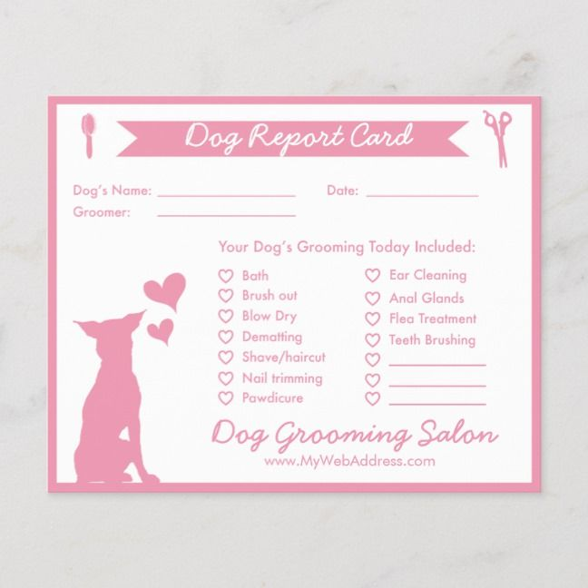 Dog Report Card For Dog Groomers Groomer Dog Grooming Dog Groomers