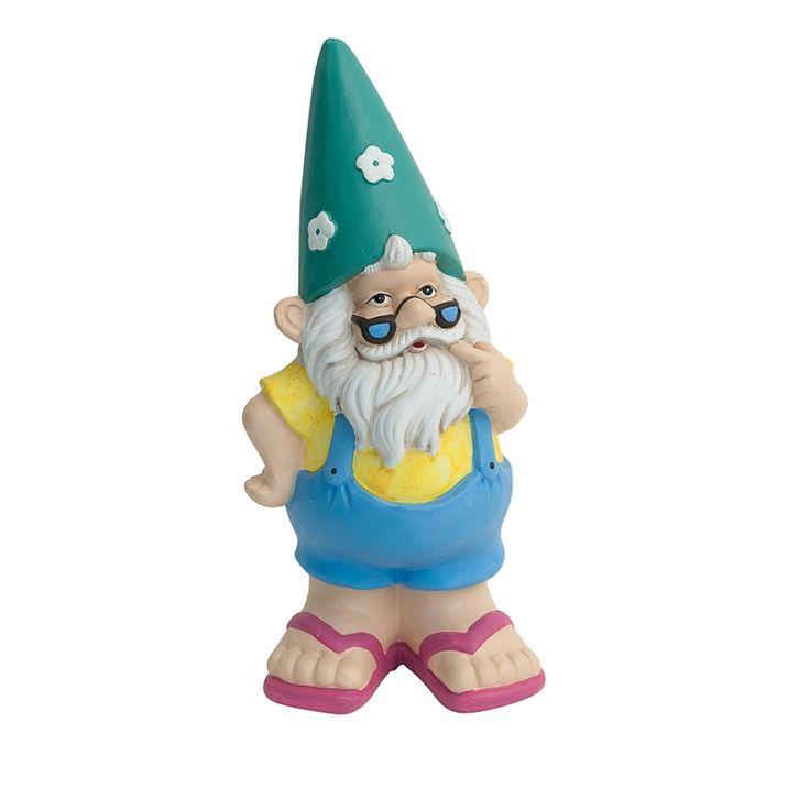 Gnome Garden: Tuscan Path 31cm Yellow And Blue Beach Gnome Garden Statue