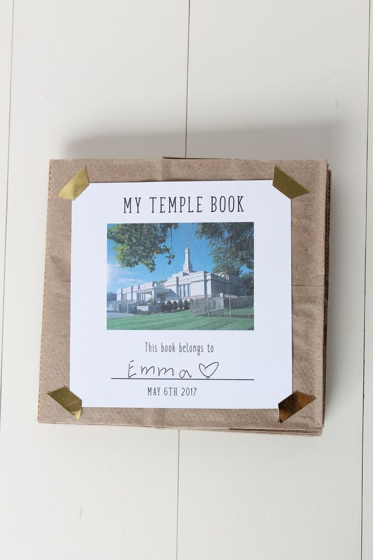 Primary Temple Day- Free Printable Scrapbook