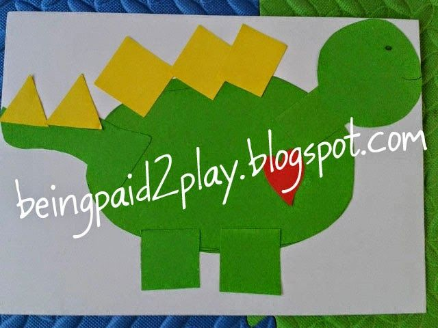 Being Paid 2 Play: Shape Dinosaur
