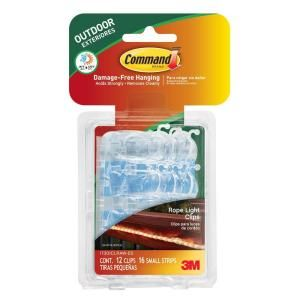 Command Outdoor Rope Light Clips with Foam Strips (12-Piece per Pack)-17301CLRAW-ES - The Home Depot