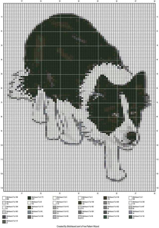 Scottish dog x-stitch