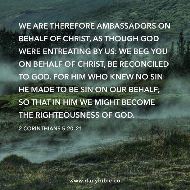 2 Corinthians 5:20-21 by inspiredbythebible http://ift.tt/1KAavV3