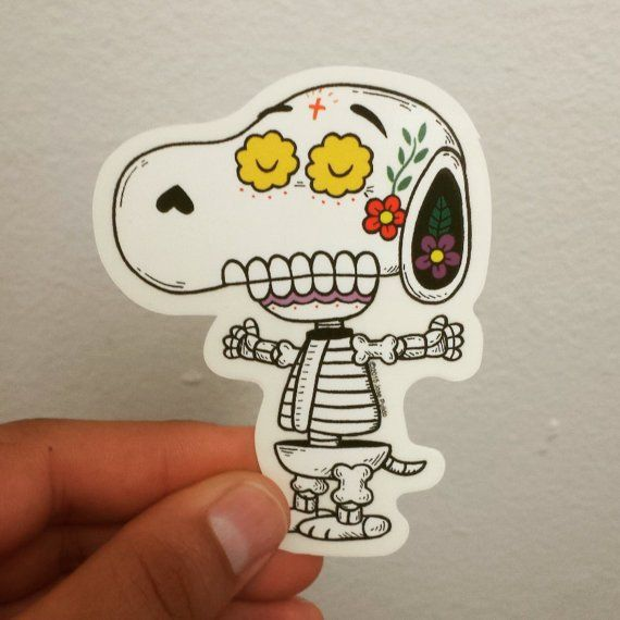 Peanuts - Snoopy Day of the Dead Sticker