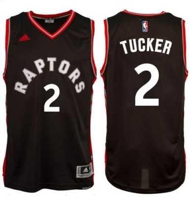 e00bb2897 Men s Toronto Raptors  2 P. J. Tucker adidas Black Player Swingman  Alternate Jersey