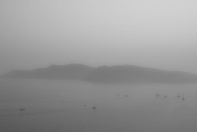 Timos Tsoukalas, Foggy Caldera View, Santorini