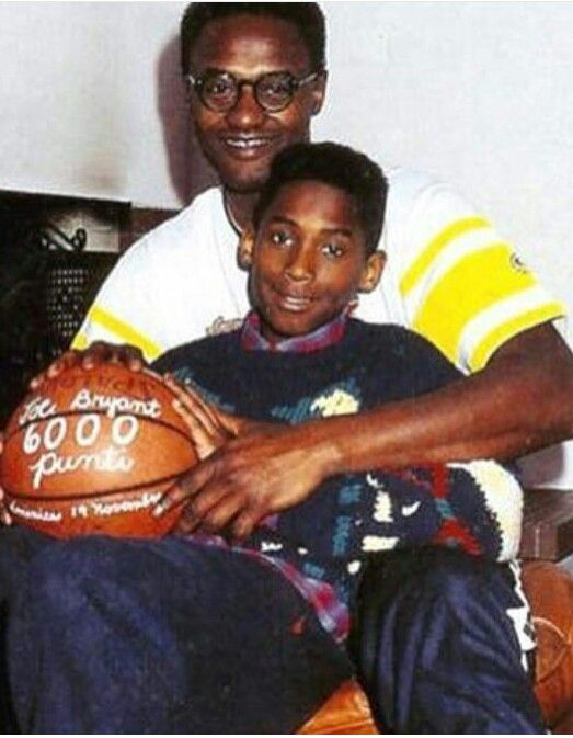 """Kobe Bryant with his father Joe. 