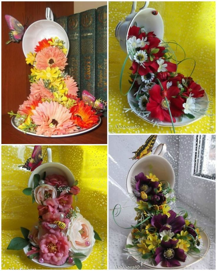 DIY Floral Topiary Flying Cup ->http://www.fabartdiy.com/diy-floral-topiary-flying-cup/