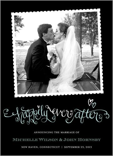Happily Ever After Wedding Announcement  Great to have wedding pics made into stamps