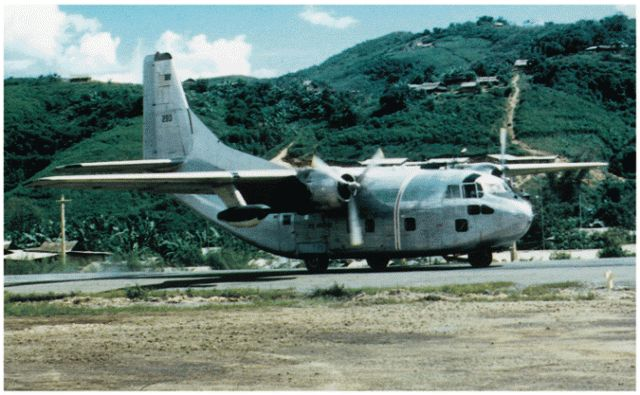 Air America C-123 on ramp at Long Tieng, 1970 (CIA.gov)