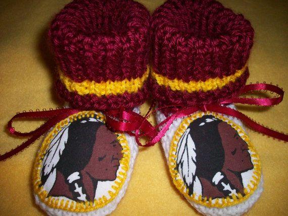 Custom Handmade Knit NFL WASHINGTON REDSKINS Baby by magge03