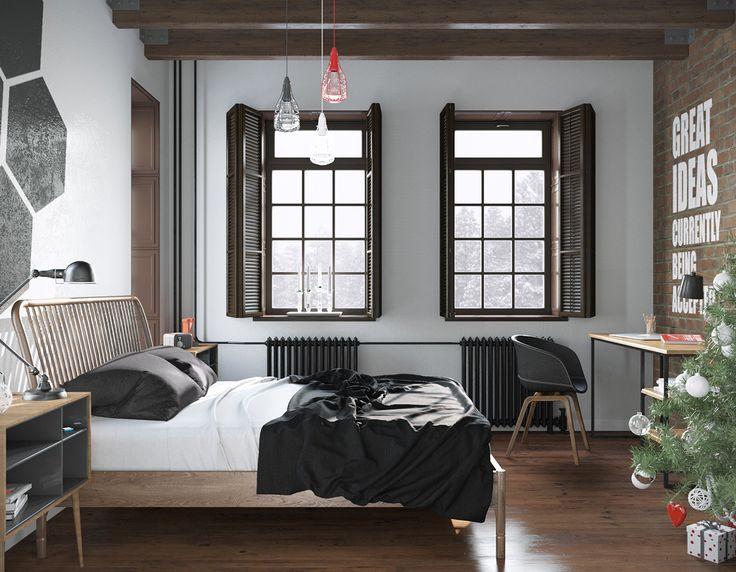 Schlafzimmer Inspiration Weiß  schlafzimmer #weiss #holz #parkett #