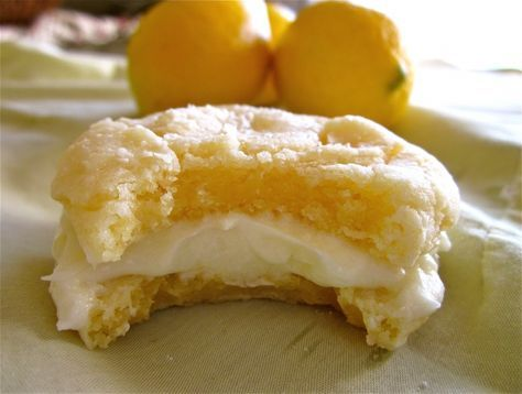 lemon crinkle cookies with lemon frosting. Want to try these babies out!!