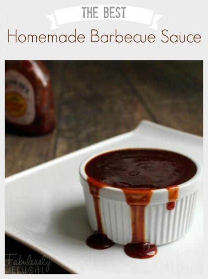 This homemade BBQ sauce tastes just like Sweet Baby Ray's!