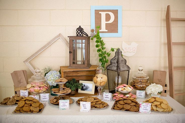 Graduation Party/garden vintage cookie bar for grad party