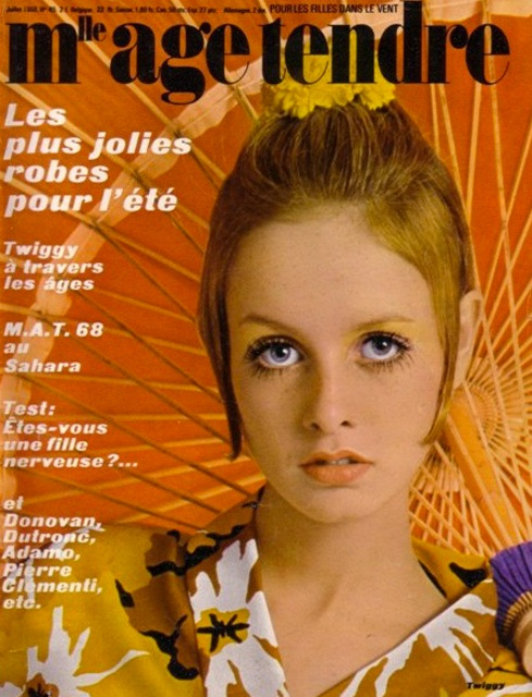 Twiggy Mademoiselle Âge Tendre Cover 1968