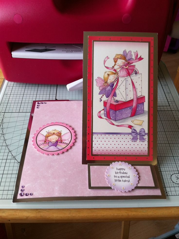 Easel card made with mirror card and Hunkydory paper stock and toppers