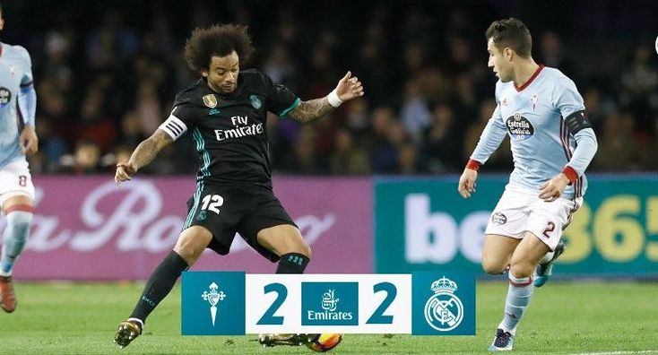 VIDEO: Celta de Vigo vs Real Madrid 2-2 – Highlights & Goals Download 07 January 2018 La Liga Real Madrid boss Zinedine Zidane has made four alterations to the team that featured in their last league outing, with Dani Carvajal, Sergio Ramos, Mateo Kovacic and Karim Benzema making way for Achraf Hakimi, Nacho and Gareth...
