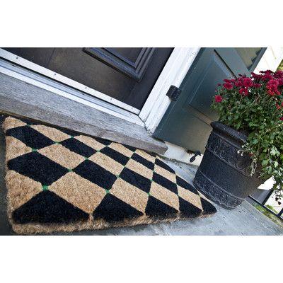Superb Entryways Handmade Extra Thick Black Diamonds Doormat   Checkerboard Pattern