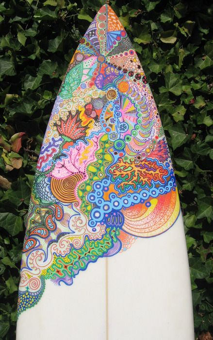 Surfboard Art! I want my board to look like this