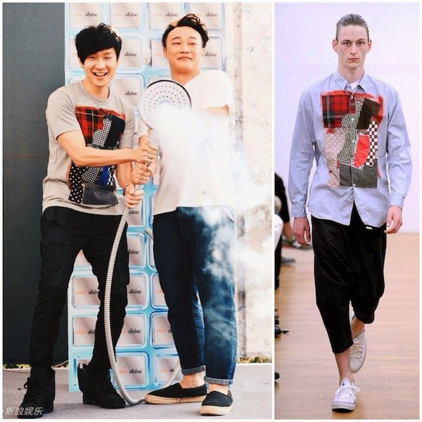JJ Lin Junjie Comme Des Garcons SHIRT patchwork face print t-shirt - Eason Chan <RISE & SHINE> album launch Taipei, Taiwan 13 July 2014 / 林俊杰助阵陈奕迅第12张國語專輯台北签名会 http://www.whats-he-wearing.com/2014/07/jj-lin-junjie-comme-des-garcons-shirt-patchwork-t-shirt-eason-chan-rise-shine-album-launch-taipei-taiwan.html?spref=tw