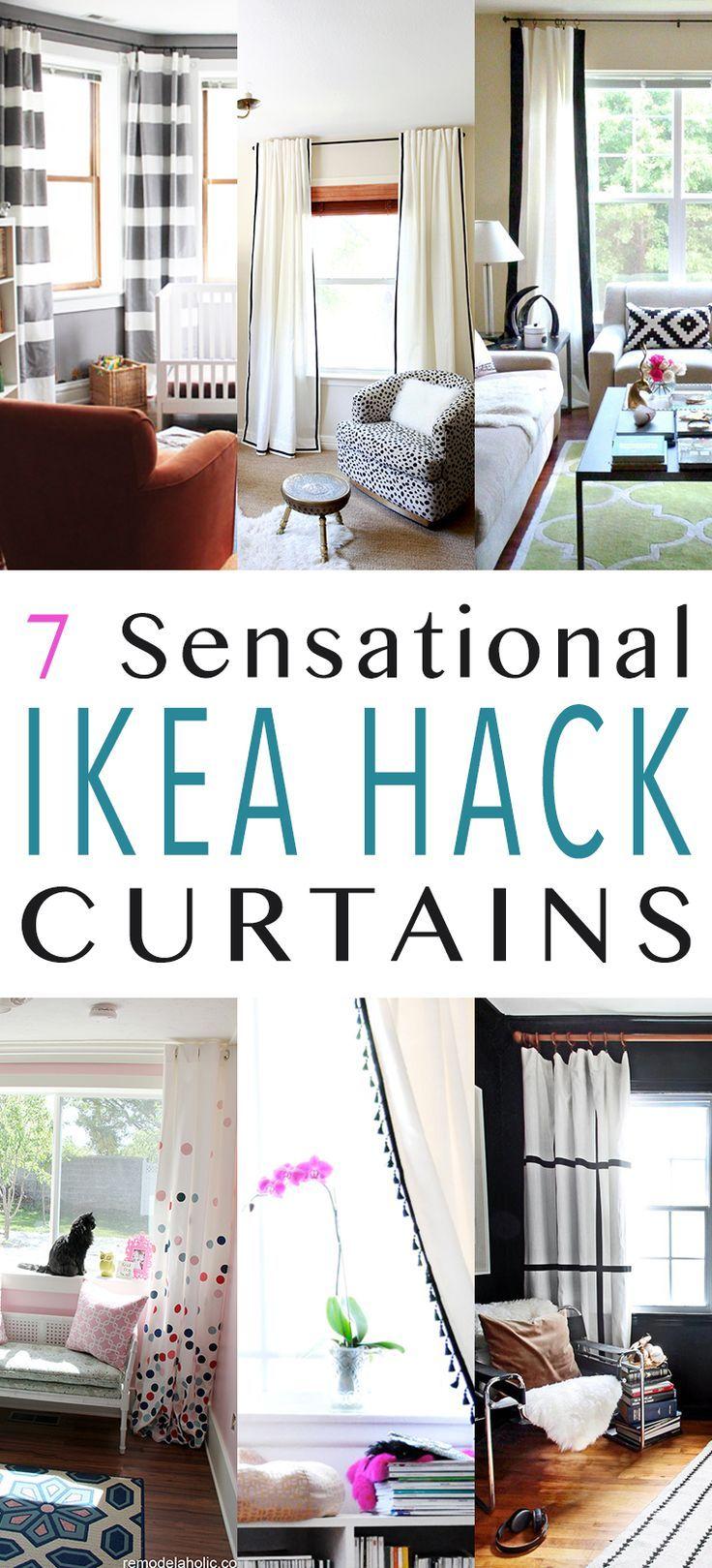 7 Sensational Curtain Ikea Hacks Diy Curtains Ikea Hack