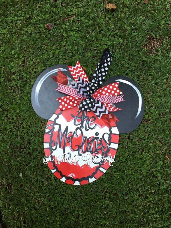 Mickey Mouse Door Hanger By Whimsygirlart On Etsy