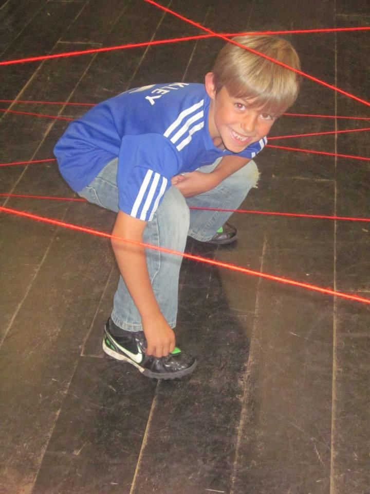 Pre-laser maze training @ the Spy Xperience - Can these little spies complete the laser course?    #jamesbond #spy #physicalactivity #children #schoolholiday