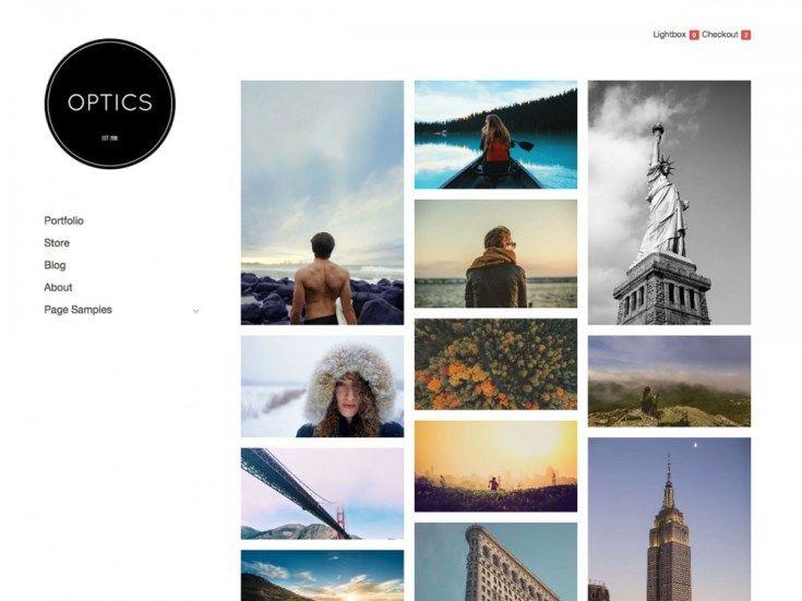Optics - Free Simple Portfolio WOrdpress Theme