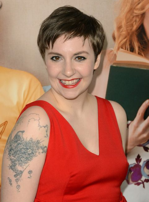 Lena Dunham and her Ferdinand the Bull tattoo (she also has a scene from Eloise on her back).