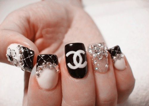 25 gorgeous chanel nails design ideas on pinterest chanel nail love it bling chanel nails prinsesfo Images