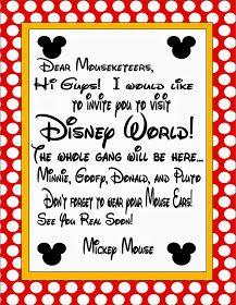 Disney invite