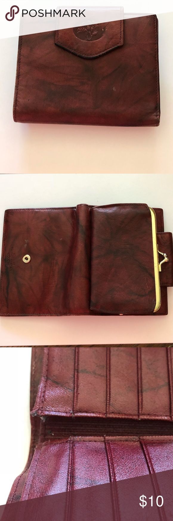 """Buxton Wallet Buxton Wallet -  4"""" H x 5 L (closed)   👛  Heiress  👛 Top Grain Cowhide  👛 Change Purse  👛 8 Card Slots to include ID window   Good shape - see small lift by credit card slot not noticeable when using. BUXTON Bags Wallets"""