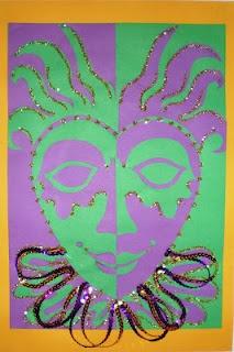 Mardi Gras Masks - Gr. 4 or Gr. 5