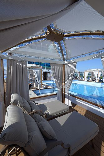Princess Cruises Royal Princess. Retreat pool cabana #RelaxWithPrincess
