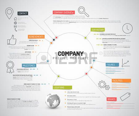 infographic: Vector Company infographic overview design template with colorful labels and icons