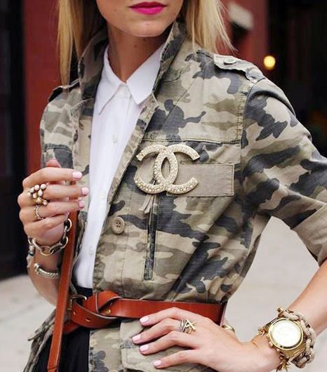 CAN YOU WEAR CAMO TO WORK? Camouflage is earning its position on fashion's front lines, as seen on Alexander Wang, Christopher Kane and Michael Kors' F/W 13 runways. As Olivia Palermo, Jenna Lyons, and a slew of models and bloggers also demonstrate, this once casual print is an unexpected and versatile option for the sartorially savvy.