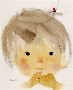 how beautiful are Chihiro Iwasaki's ( famous in Japan ) paintings of children