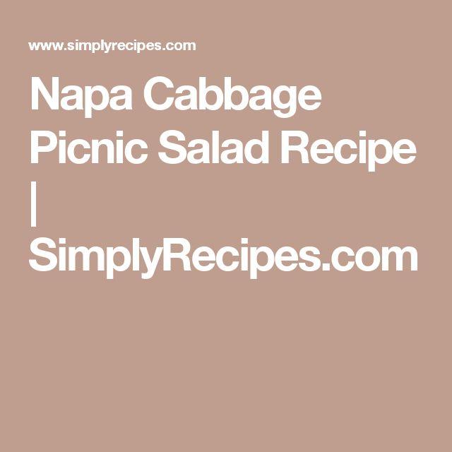 Napa Cabbage Picnic Salad Recipe | SimplyRecipes.com