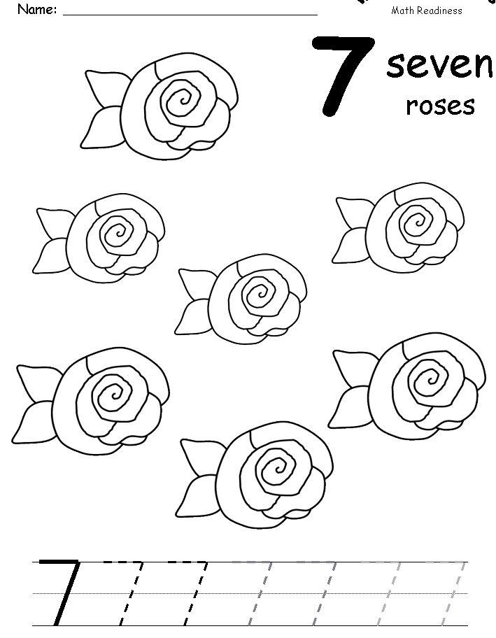 17 best Number 7 Worksheets images on Pinterest   Number 7 ...
