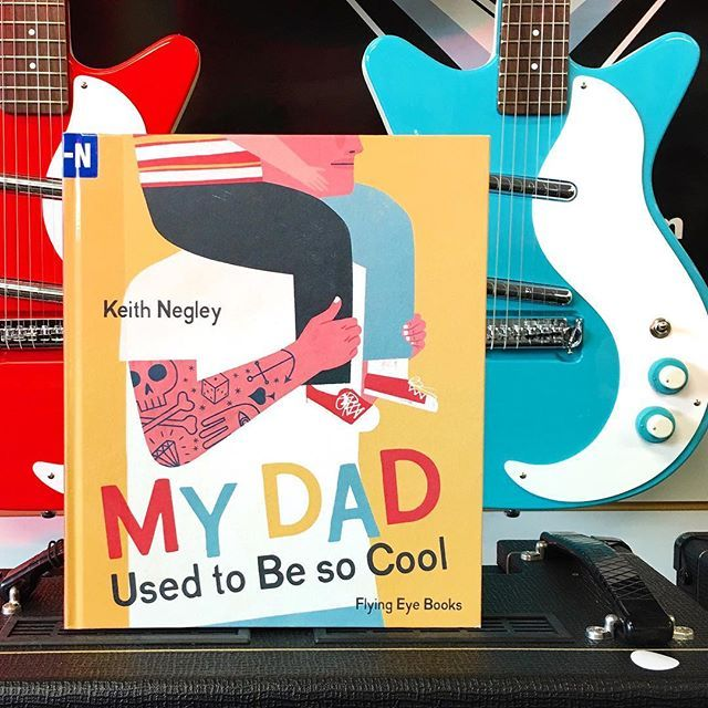 It's #followfriday, and I'm giving a shout out to @spiky_penelope .  At the moment we have 7 books in our possession recommended by her, including this new favourite by Keith Negley, My Dad Used to be Cool. This book is cool and sweet, just like my friend @spiky_penelope. She writes sterling reviews, hosts fun book exchanges, and her taste in books is divine. .  Also love this book because it encouraged a trip to the music store this morning for this pic. My boy wants to play the violin…
