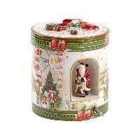 Villeroy & Boch, 'Christmas Toys' Музыкальная шкатулка 'Рождественский рынок' большая, круглая, фарфор, 21 см