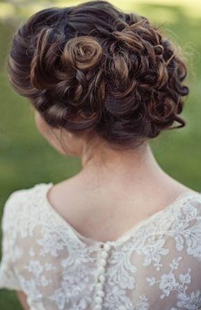 Beautiful Romantic Bridal Hair