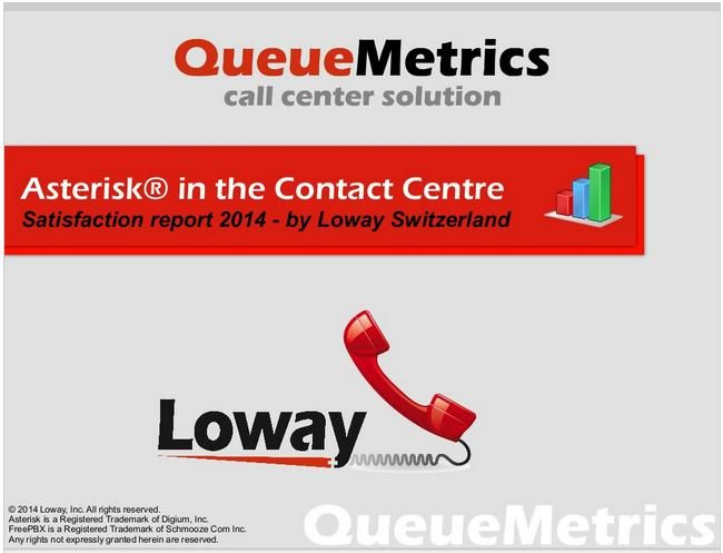 Loway released its first #callcenter #customersatisfaction survey as in free eBook downloadable format. This is the first case study of its kind in the contact-center industry for installations based on #Asterisk technologies. Free download now: http://queuemetrics.com/callcenter-survey.jsp
