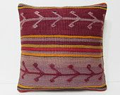 large kilim pillow 20x20 wool pillow cover sofa throw pillow floor cushion cover red throw pillow large sofa pillow decorative pillow 21111